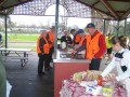 Lunch in shepparton was put on by the local rotary club